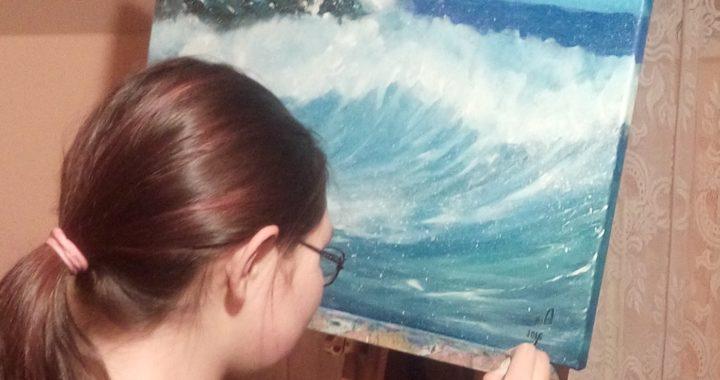 """Алтуша, 16 лет. """"Море"""", 2016."""